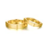 Gold Aesthetics系列K黄金方形戒指