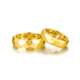 Gold Aesthetics系列 K金棱面对戒