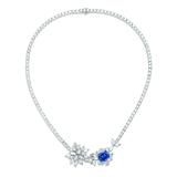 Clé de Vanxing高级珠宝 蓝宝石项链