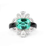Clé de Vanxing高级珠宝 祖母绿戒指